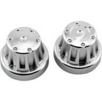 Axial Wheel Nut Hub Cover Set, Satin Chrome (4)