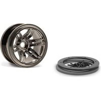 "Axial 2.2"" Rockster Beadlock Rims, Black Chrome (2)"