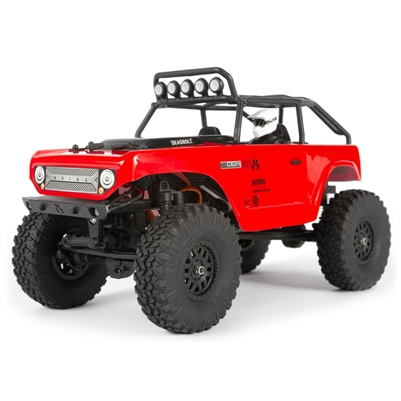 Axial SCX24 Deadbolt 4wd 1/24th Brushed RTR Rock Crawler with red body