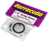 "Barracuda 1.5"" Front Drag Racing Rims, Machined Delrin (1 Pair)"