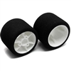 CRC Pro Cut Mounted Foam Tires, 1/12 Rear White (2)