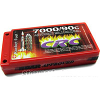 CRC 7000mAh 3.7v 90c Lipo Battery Pack With 4mm Bullet Conns.