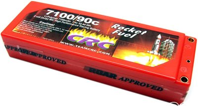 CRC 7100mAh 7.4v 90c Lipo Battery Pack With 4mm Bullet Conns.