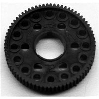 CRC Molded Spur Gear, 64 Pitch 72t For 1/10 And 1/12 Pan Cars