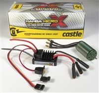 Castle Creations Mamba Micro X Waterproof 1/18th ESC with 8200Kv motor