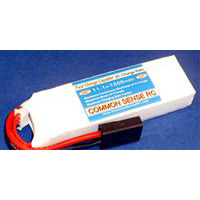 Common Sense RC 1500mAh 11.1v 3s Lipo Battery Pack For TRX 1/16th, 25c