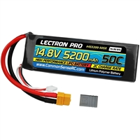 Common Sense RC 5200mAh 14.8v 4S Lipo Battery Pack with XT60/TRX connector, soft case