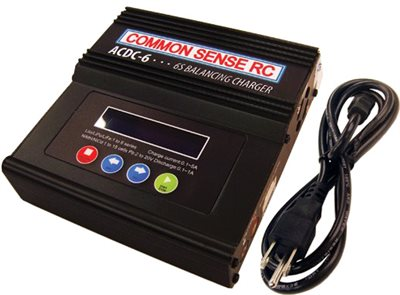 Common Sense RC Ac/Dc Lipo Battery Balance Charger