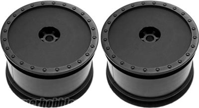 DE Racing Borrego Rear Rims For Durango DEX210/DEX410 V3, Black (2)