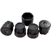 DE Racing Hub Nutz For Slash 4wd, Blitz, Ultima Sc, SCRT10, Black (4)