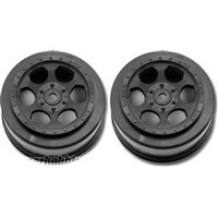 DE Racing Ten-SCTE Trinidad Rims, Black (2)