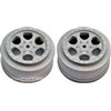 DE Racing Ten-SCTE Trinidad Rims, Silver (2)