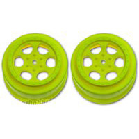 DE Racing Ten-SCTE Trinidad Rims, Yellow (2)