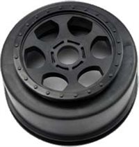 DE Racing Trinidad 17mm 1/8th Buggy Rims, Black (2)