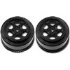 DE Racing SC10 4x4 Trinidad Rims, Black (2)