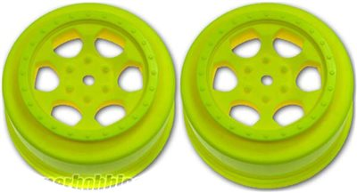 DE Racing SC10 4x4 Trinidad Rims, Yellow (2)