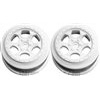 DE Racing SC10 4x4 +3mm Offset Trinidad Rims, White (2)