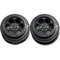 DE Racing XXX-SCT Trinidad Rear Rims, Black (2)