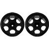 DE Racing T4.1 Trinidad Stadium Truck Rims, Black (2)