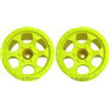 DE Racing T4.1 Trinidad Stadium Truck Rims, Yellow (2)
