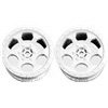 DE Racing 22T Trinidad Stadium Truck Rims, White (2)