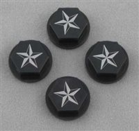 Dark Soul Racing Baja 5B/5T Star Pattern Closed Axle Nuts, Black (4)