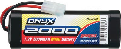 Duratrax Onyx 2000mAh Nimh 6-Cell 7.2v Stick Battery Pack-Tamiya Plug