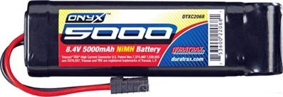 Duratrax 5000mAh 7-Cell 8.4v Battery Pack, Flat with Traxxas HC Connnector