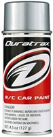 Duratrax PC262 Silver Streak Polycarb Spray Paint, 4.5oz