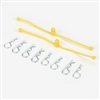Dubro Body Klip Retainer Set-Yellow, 2 Retainers With 8 Clips