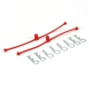 Dubro Body Klip Retainer Set-Red, 2 Retainers With 8 Clips