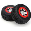 Dynamite Robber SC Tires On Slash Rear Rims-Slash 4x4 Front/Rear (2)