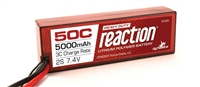 Dynamite Reaction HD 7.4V 5000mAh 50C 2S Hardcase LiPo Battery with EC5 connector