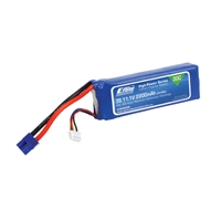 E-flite 2200mAh 3-Cell Lipo 11.1 Volt Battery Pack With EC3 Plug