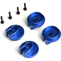 Exotek Racing Slash Locking Spring Cups, Blue Aluminum (4)
