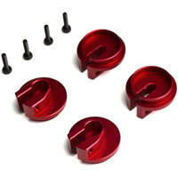 Exotek Racing Slash Locking Spring Cups, Red Aluminum (4)