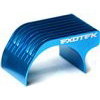Exotek Racing F1/Pan Car Motor Heatsink, Blue Finned Aluminum