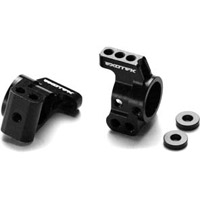 Exotek Racing XB4 Aluminum Rear Hub Carrier Set, Black Anodized