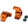 Exotek Racing XB4 Aluminum Rear Hub Carrier Set, Orange Anodized