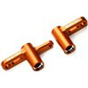 Exotek Racing XB4 Steering Bell Crank Set, Orange Anodized Aluminum
