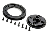 Exotek Racing D413 72t Machined Spur Gear And Aluminum Mounting Plate