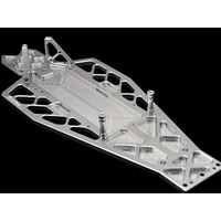 Fast Lane Machine Electric Rustler Super Chassis Silver Aluminum