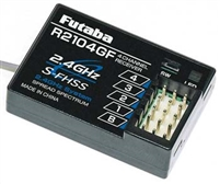 Futaba 2.4 Ghz R2104gf Receiver, S-Fhss For 4pl