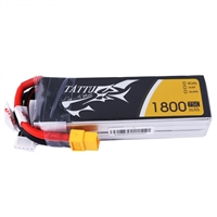 Gens Ace 1800mAh 75C 14.8V 4S Lipo Battery with XT60 Connector