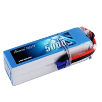 Gens Ace 5000mAh 6s 60C 22.2V Lipo Battery Pack with EC5 Plug