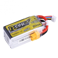 Gens Ace R-Line 1300mAh 95C 14.8V 4S Lipo Battery with XT60 Connector