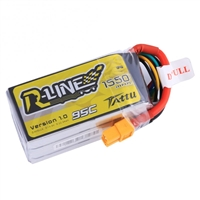 Gens Ace R-Line 1550mAh 95C 14.8V 4S Lipo Battery with XT60 Connector