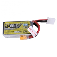 Gens Ace R-Line V2.0 1300mAh 100C 14.8V 4S Lipo Battery with XT60 Connector