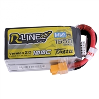 Gens Ace R-Line V2.0 1550mAh 100C 14.8V 4S Lipo Battery with XT60 Connector