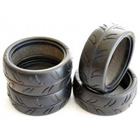 Gravity RC USGT Spec Tires With Foam Inserts, 24mm Ride 24025 (4)